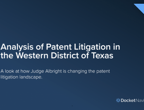 Analysis of Patent Litigation in the Western District of Texas